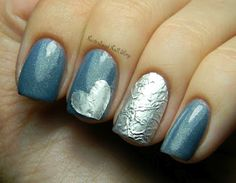 foil nails - love the look of this! Get Nails, Fancy Nails, How To Do Nails, Pretty Nails, Hair And Nails, Uñas Fashion, Finger Art, Nail Blog, Foil Nails