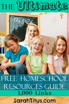 The Ultimate Free Homeschool Resources Guide | 1,000+ Links #homeschool #freecurriculum