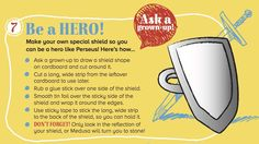 Make a shield, inspired by our Perseus and Medusa Greek myth in Storytime Issue 1 ~ STORYTIMEMAGAZINE.COM