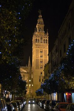 La Giralda at night Sevilla, Spain