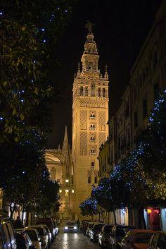 La Giralda at night  Sevilla,  Spain