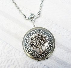 Silver Locket Necklace - Silver TREE Of LIFE Locket - The ORIGINAL - Jewelry by BirdzNbeez - Christmas Wedding Birthday Bridesmaids Gift on Etsy, $28.00
