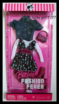 2007 Barbie Doll Outfit Clothing Fashion Fever L3372 0789 Jean Jacket Boots   eBay