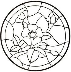 drawing great for stained glass or appliqué Mandalas Painting, Dot Painting, Painting Patterns, Stained Glass Patterns Free, Stained Glass Designs, Free Mosaic Patterns, Stained Glass Flowers, Faux Stained Glass, Mosaic Crafts