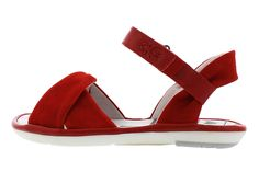bd7de5ed1d44 Fly London Mome Lipstick Red Leather Open Toe Flat Sandals