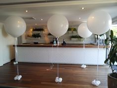 Simple and Elegant! white 3ft balloons