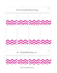 Free Hot Pink Chevron  Blank Tags