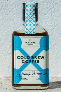 https://twitter.com/SandowsLondon Cold-brew premium coffee brand, like that they are using a different bottle than most and their logo really stands out, instantly recognisable and easy to draw logo. Also it looks local. Good video showing their production facility https://www.facebook.com/video.php?v=386448944842935