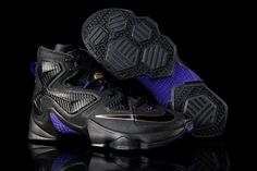 168c3156eff Nike Men s Lebron XIII Basketball Shoe Black Metallic Gold HYPER Grape 007  for sale online