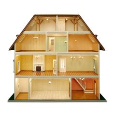 Set of building components for the Villa Tara MDF panel construction kit x 50040 - Window with x 50160 - Victorian x 50350 - Victorian Box Houses, Play Houses, Diy Dollhouse, Dollhouse Furniture, Villa, Victorian Windows, Hall Flooring, Doll House Plans, Balcony Railing