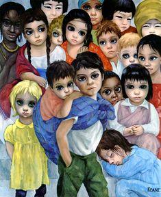 """""""Our Children"""" ~ Margaret Keane Big Eyes Paintings, Paintings Famous, Famous Artists, Big Eyes Margaret Keane, Keane Big Eyes, Margret Keane, Big Eyes Movie, Walter Keane, Big Eyes Artist"""