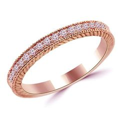 Hey, I found this really awesome Etsy listing at https://www.etsy.com/listing/154937445/pink-diamond-vintage-style-wedding-ring
