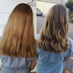 Balayage blond after highlights and a beige haircolor by milkshake Trends, Milkshake, Haircolor, Blond, Highlights, Beige, Long Hair Styles, Beauty, Shaving Machine