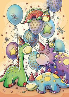 Dinosaur Birthday Party by Rachelle Anne Miller