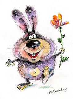 Просмотреть иллюстрацию Мартовский кролик. из сообщества русскоязычных художников автора Вадим Рыбаков в стилях: Детский, нарисованная техниками: Смешанная