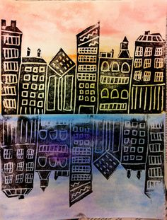 city-scapes...warm and cool colors