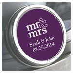 Mr & Mrs Personalized Color Coordinated Mint Tin- tin and label 99 cents (mints not included) - $1.45 to include mints