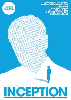 Inception (2010) ~ Minimal Movie Poster by Matt Needle #amusementphile