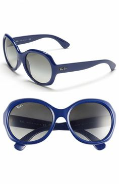 9c7618a3e9 Ray-Ban  Round Glamour  56mm Polarized Sunglasses available at  Nordstrom Round  Ray