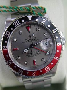 Rolex Mens Gmt-Master II Steel Pre Owned, Slate Diamond Dial - Box & Booklets ! #Rolex