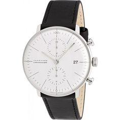 Junghans Max Bill Chronoscope Automatic Chrono Watch   Black Calfskin 027/4600.00