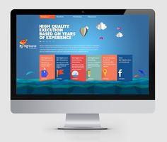 SkyToDesign by Muhammed Salman, via Behance origami design Flat Design Colors, Tech Branding, Web Design Agency, Origami Design, Web Design Inspiration, Design Ideas, User Interface Design, Facebook, Interactive Design