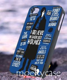 Sherlock holmes bbc quote  iPhone 4/4s/5 Case  by MoeltyCase, $15.00