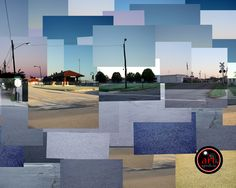 Old Depot in Russellville Arkansas Photo Collage
