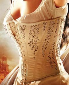 lace-me-tighter:  Embroidered hand-made corset.