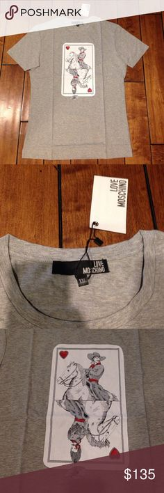 Love Moschino men tee shirt Authentic, size XXL Love Moschino Shirts Tees - Short Sleeve