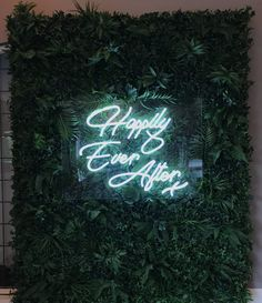 Neon backdrop - Happily Ever After wedding Sign hire from The Word Is Love