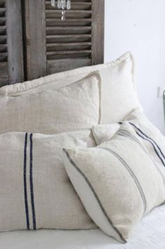 Ana&Cuca home mooi White Pillows, Bed Pillows, Cushions, Linen Pillows, Linens And Lace, Linen Bedding, Bedding Sets, Bed Linens, Soft Furnishings
