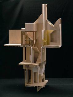 Casa Providencia, Flores Prats. balsa cutaway model