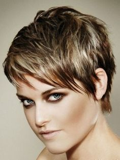 I love short hair, have worn mine in various short styles over the years, and I love this style and the colors used. Would definitely go more RED.