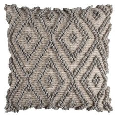 Rizzy Home Repeat Textured Diamond Decorative Pillow - PILT1082500552020, Durable
