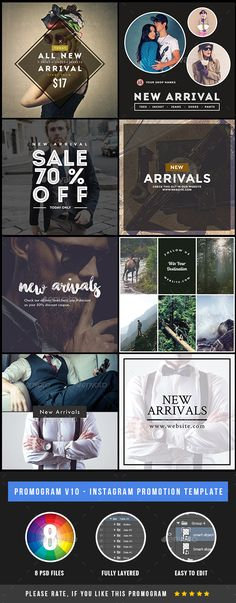 Promogram 10 - Instagram Banner New Arrival Promotional Template PSD. Download here: http://graphicriver.net/item/promogram-10-instagram-new-arrival-promotional-template/16540437?s_rank=1&ref=yinkira