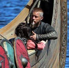 Travis ...smoke break during Vikings' filming.