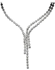 Magic Gardens of Piaget necklace in 18K white gold, set with 219 brilliant-cut diamonds (approx. 24.77 c