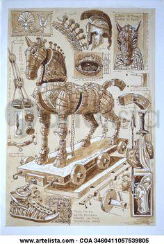 Mi Caballo de Troya Trojan Horse, Trojan War, Homer Iliad, Light Art Installation, Greek Warrior, Science Art, Dark Souls, Ancient Greece, Greek Mythology