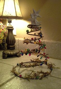 Recycled bed spring,  bed spring Christmas tree