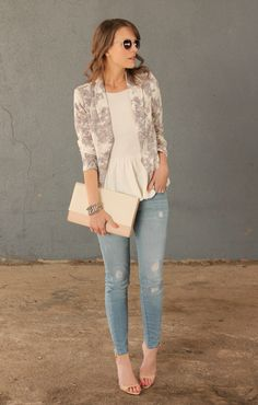 Floral Simplicity| Penny Pincher Fashion Floral blazer pastels work casual
