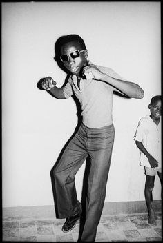 Photograph of one of the musicians that combined Cuban and Malian sounds in the sixties seen here dancing. Taken by Karen Paulina Boswell.