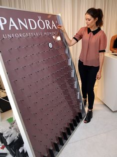 Pandora Jewelry created a Plinko-style game that determined if guests would receive a necklace, ring, or pair of earrings, depending on where the chip landed.