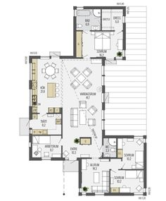 Sandliden is a pent roof house with a symmetrical floor plan. - Sandliden is a pent roof house with a symmetrical floor plan. Sims House Plans, Dream House Plans, Small House Plans, House Floor Plans, House Construction Plan, Delta House, Home Design Floor Plans, House Roof, House Layouts