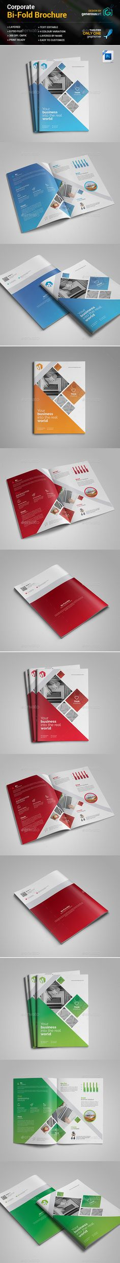#Bi-Fold Brochure - #Corporate #Brochures Download here: https://graphicriver.net/item/bifold-brochure/19160097?ref=alena994