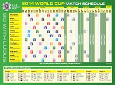FIFA World Cup 2014 Schedule.