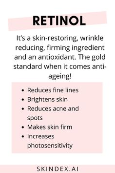 Retinol is a well known anti ageing ingredient but how does it work for oily or dry skin? Know more about retinol! Oily Skin Care, Healthy Skin Care, Face Skin Care, Anti Aging Skin Care, Natural Skin Care, Dry Skin, Natural Hair, Natural Beauty, Healthy Food