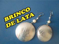 BRINCO COM FUNDO DE LATINHA - YouTube Aluminum Cans, Diy Jewelry, Jewellery, Nespresso, Diy And Crafts, Pearl Earrings, Metal, Hobby, Bracelets