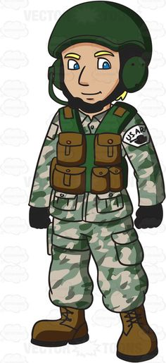 A US Army Tank Operator #cartoon #clipart #vector #vectortoons #stockimage #stockart #art