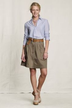 Canvas+Women's+Patch+Pocket+Skirt+from+Lands'+End